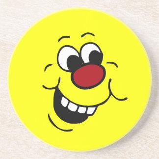 Wise Smiley Face Grumpey Coaster