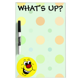 Wise Smiley Face Grumpey Dry-Erase Board