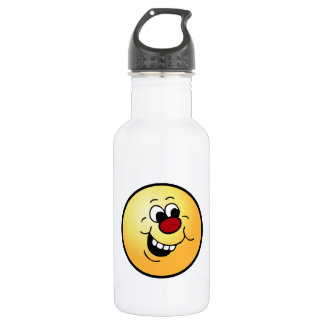 Wise Smiley Face Grumpey 18oz Water Bottle