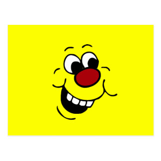 Wise Smiley Face Grumpey Postcard
