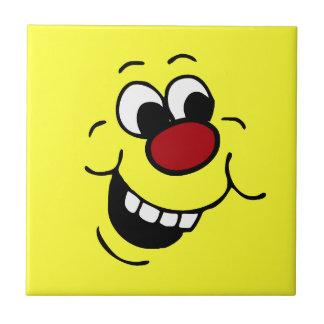 Wise Smiley Face Grumpey Tile