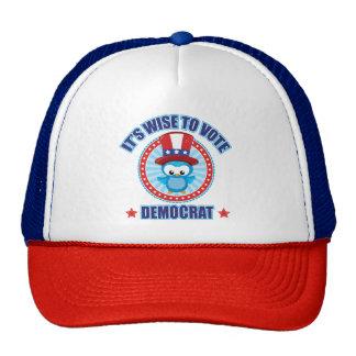 Wise to Vote Democrat Owl Trucker Hat