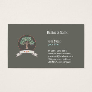 Environmental business cards templates zazzle wise tree monogrammed logo business card colourmoves Images