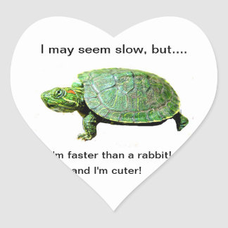 Wise turtle stciker -Stickers for thought by Ara Heart Sticker