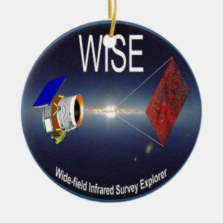 WISE – Wide Field Infrared Survey Explorer Double-Sided Ceramic Round Christmas Ornament