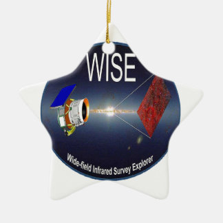 WISE – Wide Field Infrared Survey Explorer Double-Sided Star Ceramic Christmas Ornament