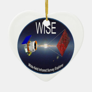 WISE – Wide Field Infrared Survey Explorer Double-Sided Heart Ceramic Christmas Ornament
