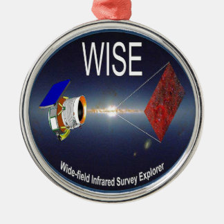 WISE – Wide Field Infrared Survey Explorer Round Metal Christmas Ornament