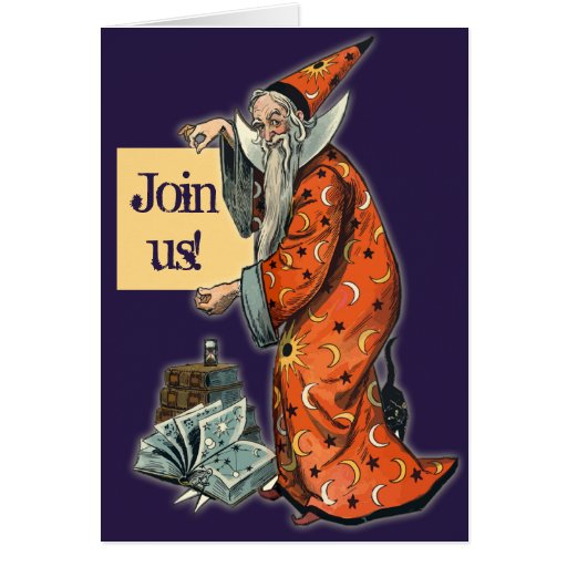 Wise Wizard Halloween Party Invitations