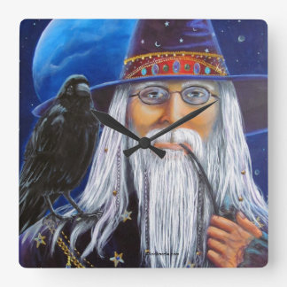 Wise Wizard Wall Clock art by Lori Karels