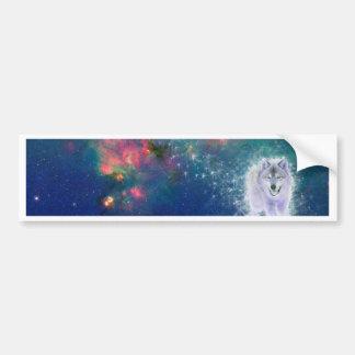 Wise Wolf Bumper Sticker