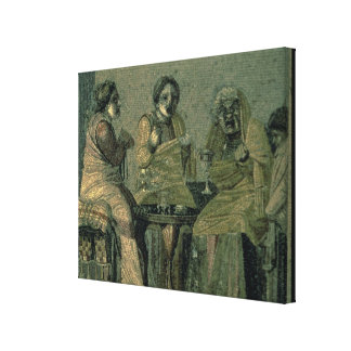 Wise woman and her patients, from the Villa Cicero Stretched Canvas Print