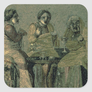 Wise woman and her patients, from the Villa Cicero Square Sticker