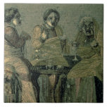 Wise woman and her patients, from the Villa Cicero Tile