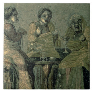 Wise woman and her patients, from the Villa Cicero Large Square Tile