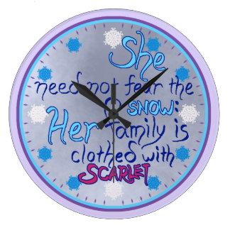 Wise Woman in Winter clock