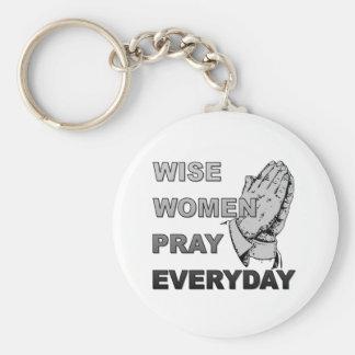 Wise Women Pray Everyday Keychain