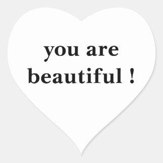 wise words funny heart sticker