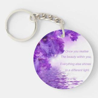 Wise words key ring Single-Sided round acrylic key ring
