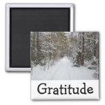 Wise Words Magnet:  Gratitude Refrigerator Magnet