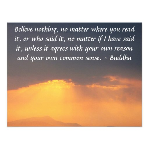 """Wise Words of Wisdom from the Buddha quote 4.25"""" X 5.5"""" Invitation ..."""