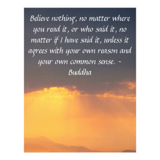 Wise Words of Wisdom from the Buddha quote Letterhead