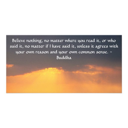 Wise Words of Wisdom from the Buddha quote Photo Card