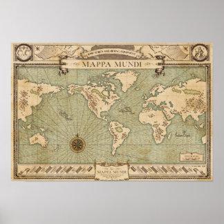 Wiseacre's Wizarding Equipment - Mappa Mundi Poster