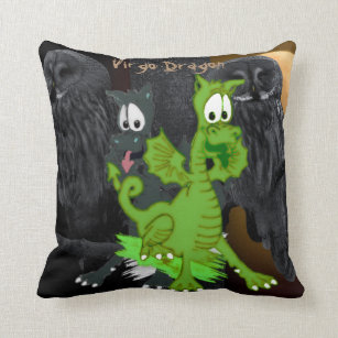 Wisely Dragons™ Virgo Pillow