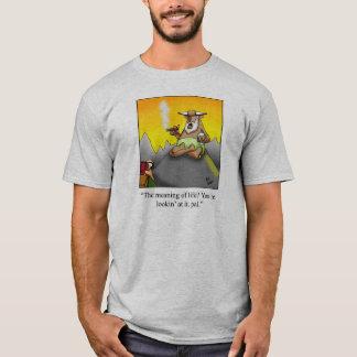Wiseman Cigar Humor  Tee Shirt