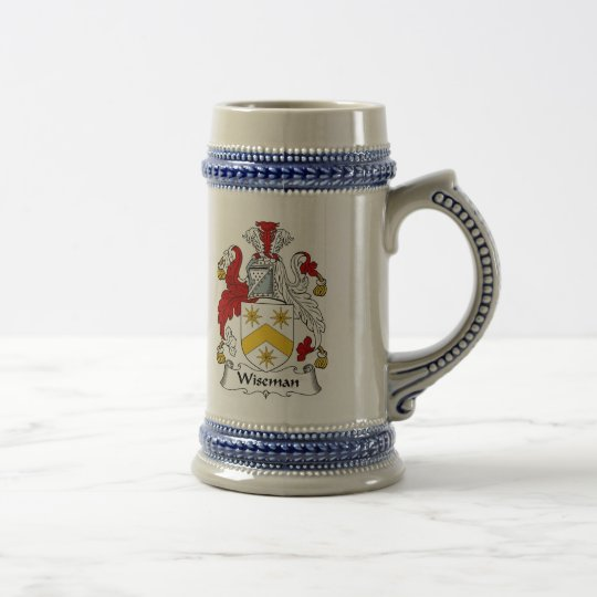 Wiseman Coat of Arms Stein - Family Crest