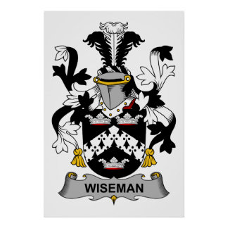 Wiseman Family Crest Poster