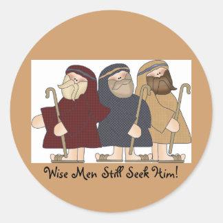 Wisemen Classic Round Sticker