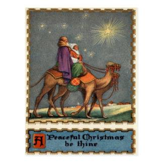 Wisemen Following Star To Jesus Post Cards