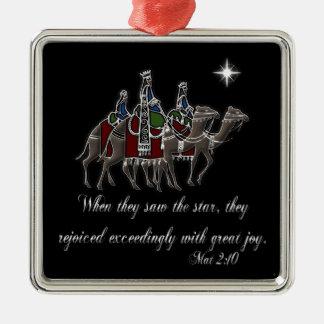 Wisemen/ Mat 2:10 Metal Ornament