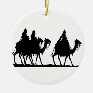 Wisemen Seeking out Christ Ceramic Ornament