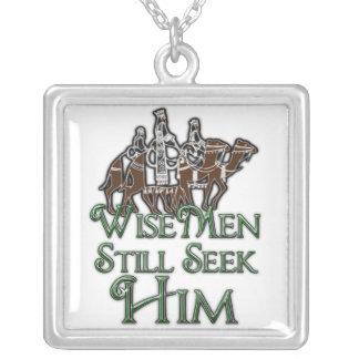 WiseMen Still Seek Him Silver Plated Necklace