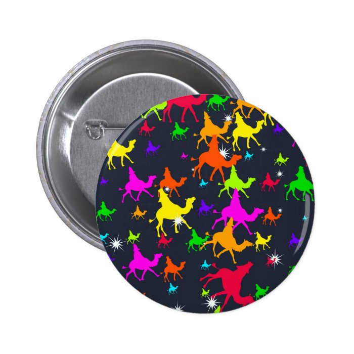Wisemen Wallpaper Pinback Button