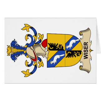 Wiser Family Crest Greeting Cards