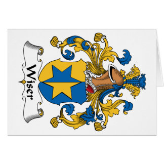 Wiser Family Crest Greeting Card