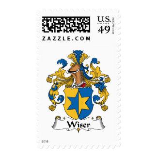 Wiser Family Crest Postage Stamp