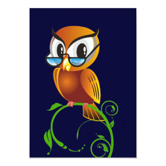 Wisest Owl 5x7 Paper Invitation Card