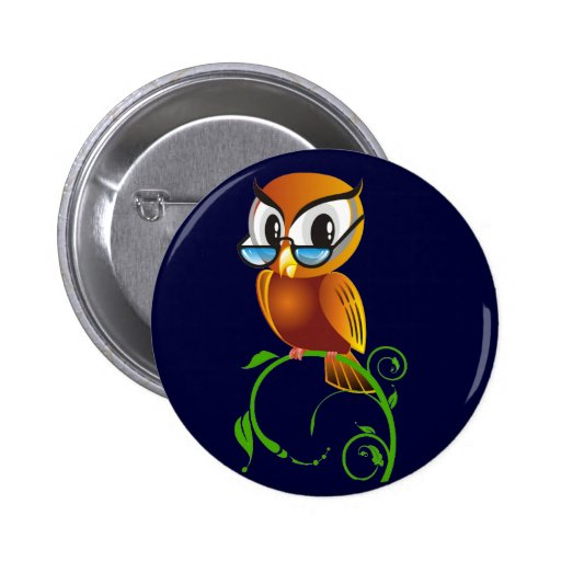 Wisest Owl Pinback Buttons