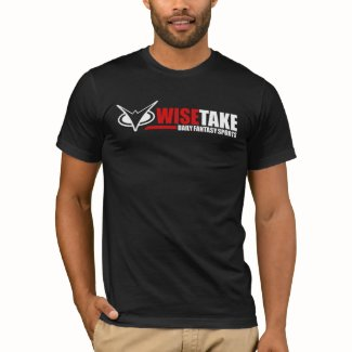 WiseTake Daily Fantasy Sports Fitted Black T-Shirt