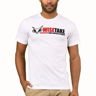 WiseTake Daily Fantasy Sports Fitted White T-Shirt