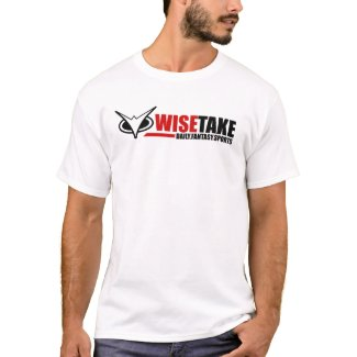 WiseTake Daily Fantasy Sports White T-Shirt