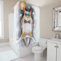 Wisey the Owl Shower Curtain