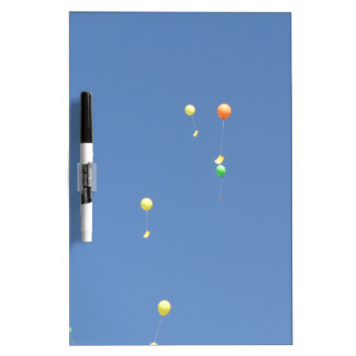 Wish balloons in the blue sky dry erase board