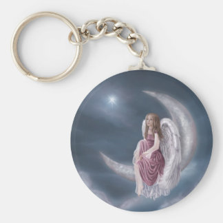 Wish Basic Round Button Keychain