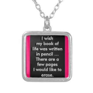 WISH BOOK LIFE ERASE PAGES REGRET EMO SADNESS WRON NECKLACES